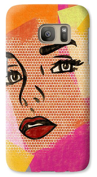 Galaxy Case featuring the mixed media Pop Art Comic Woman by Dan Sproul