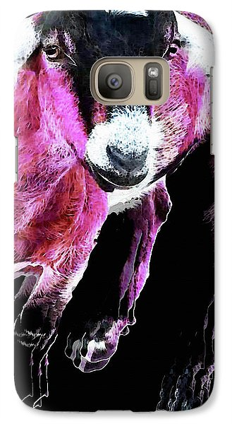 Pop Art Goat - Pink - Sharon Cummings Galaxy Case by Sharon Cummings