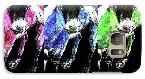 Pop Art Goats Trio - Sharon Cummings Galaxy Case by Sharon Cummings
