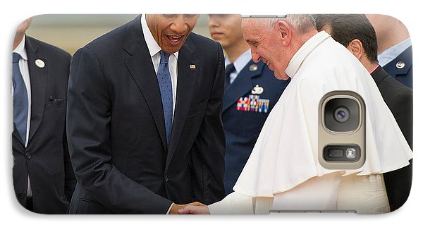 Pope Francis And President Obama Galaxy S7 Case by Mountain Dreams