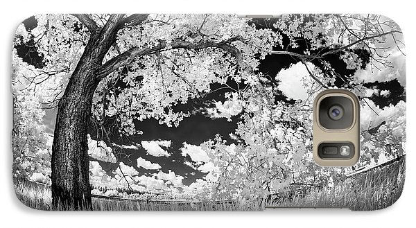 Galaxy Case featuring the photograph Poplar On The Edge Of A Field by Dan Jurak