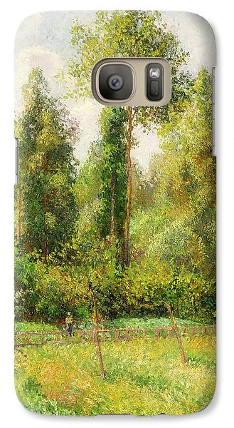 Galaxy Case featuring the painting Poplars - Eragny by Camille Pissaro