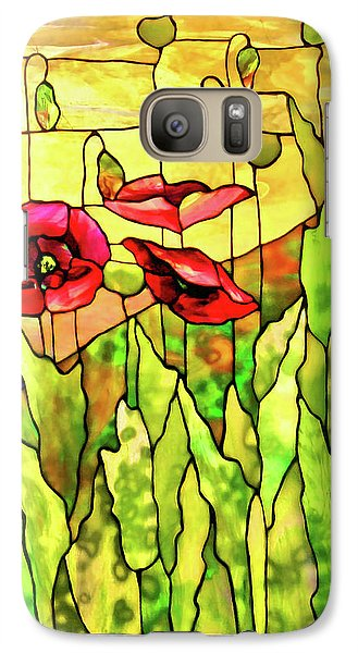 Galaxy Case featuring the photograph Poppies 2 by Kristin Elmquist