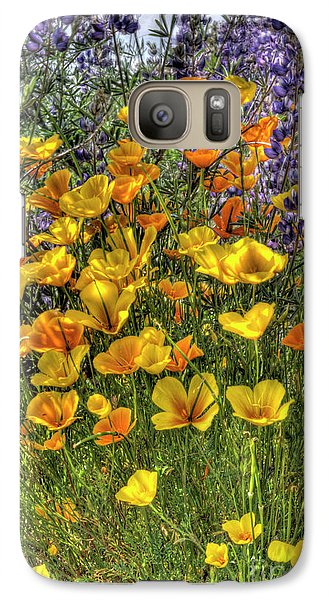 Galaxy Case featuring the photograph Poppies And Lupines by Jim and Emily Bush