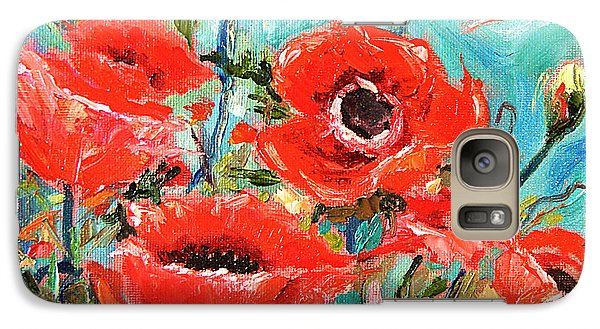 Galaxy Case featuring the painting Poppies Delight by Jennifer Beaudet