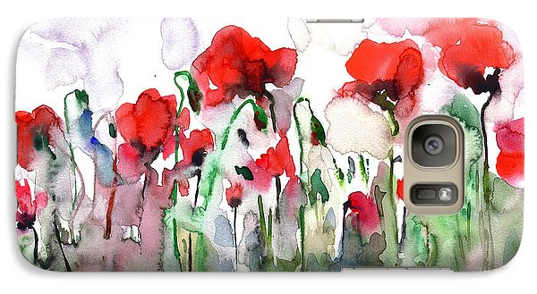 Galaxy Case featuring the painting Poppies by Faruk Koksal