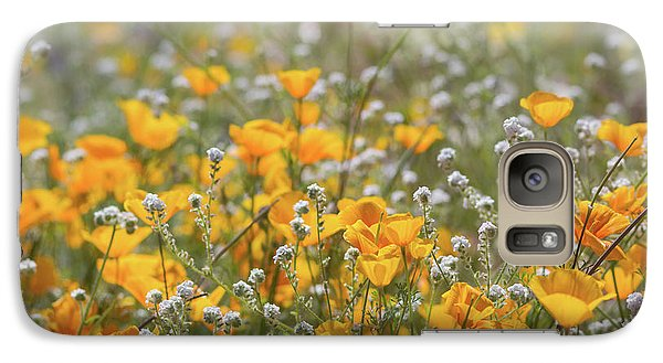 Galaxy Case featuring the photograph Poppies Fields Forever  by Saija Lehtonen