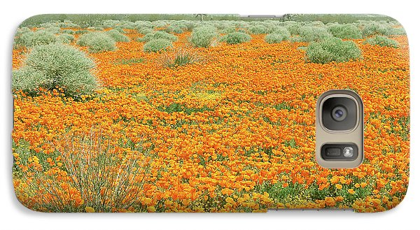 Galaxy Case featuring the photograph Poppies For Ever - Poppy Fields Mohave Desert California by Ram Vasudev
