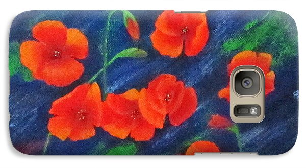 Galaxy Case featuring the painting Poppies In Abstract by Roseann Gilmore