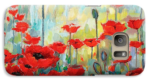 Galaxy Case featuring the painting Poppies In Bloom by Jennifer Beaudet