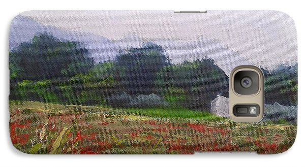 Galaxy Case featuring the painting Poppies In Tuscany by Chris Hobel