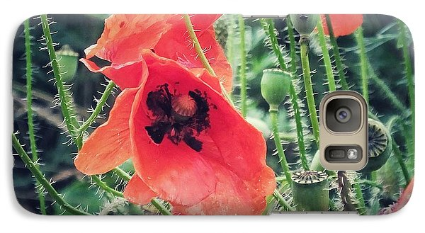 Galaxy Case featuring the photograph Poppies by Karen Stahlros