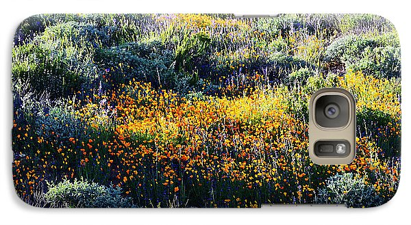 Galaxy Case featuring the photograph Poppies On A Hillside by Glenn McCarthy Art and Photography