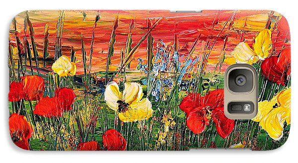 Galaxy Case featuring the painting Poppies by Teresa Wegrzyn