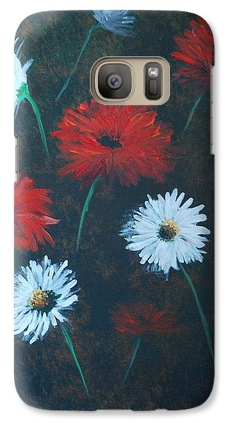 Galaxy Case featuring the painting Poppin Daisies by Leslie Allen