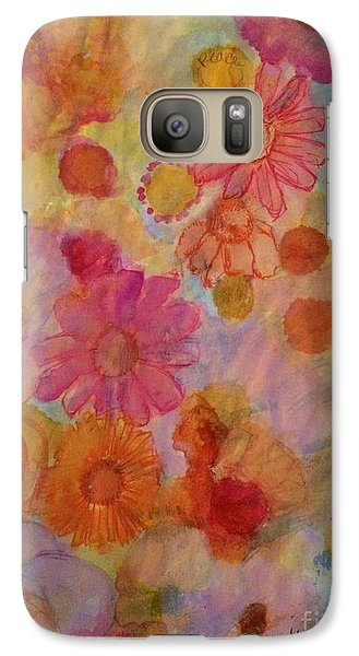 Galaxy Case featuring the painting Popping by Kim Nelson