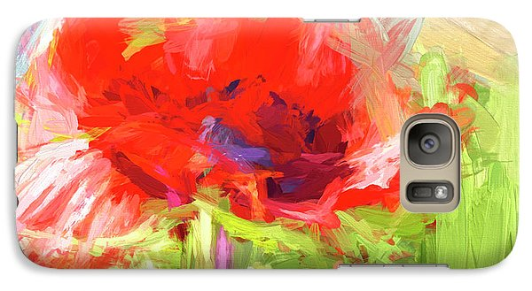 Galaxy Case featuring the photograph Poppy Abstract Photo Art by Sharon Talson