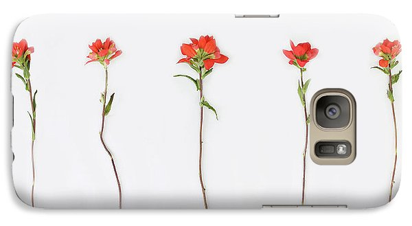 Poppy Blossoms Galaxy Case by Brittany Bevis