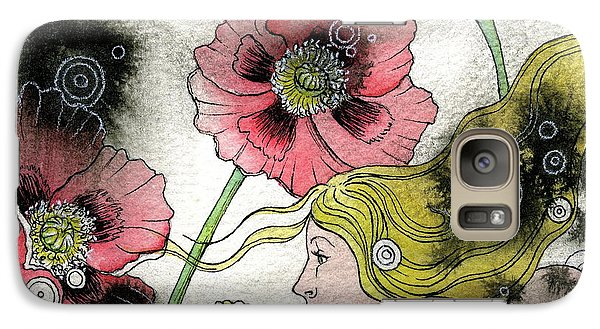 Galaxy Case featuring the painting Poppy Dream by Sheri Howe