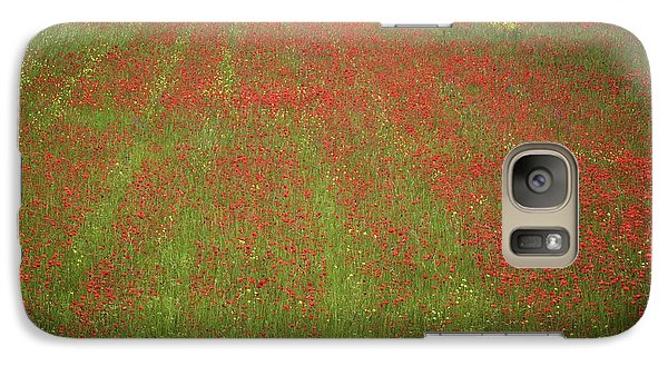 Galaxy Case featuring the photograph Poppy Field In Europe by Colleen Williams
