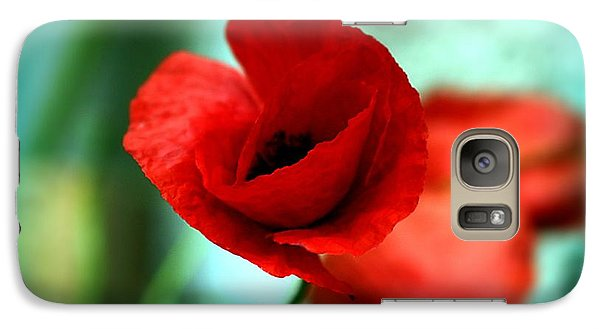 Galaxy Case featuring the photograph Poppy Flower by Emanuel Tanjala