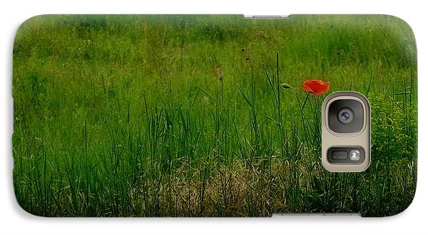Galaxy Case featuring the photograph Poppy In The Field by Marija Djedovic
