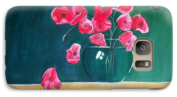 Galaxy Case featuring the painting Poppy Still Life by Carol Duarte