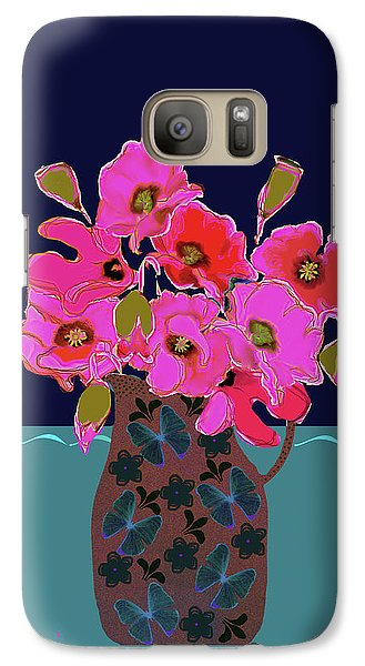 Galaxy Case featuring the painting Poppy Stille by Linde Townsend