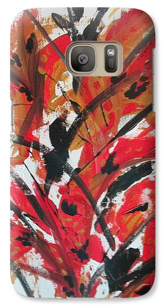 Galaxy Case featuring the painting Poppy Storm by Sharyn Winters