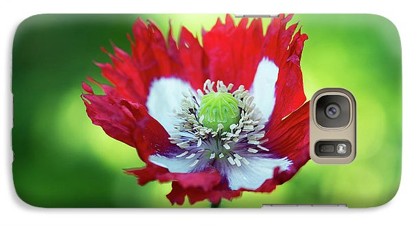 Galaxy Case featuring the photograph Poppy Victoria Cross by Tim Gainey