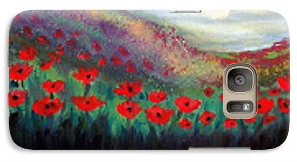 Galaxy Case featuring the painting Poppy Wonderland by Holly Martinson