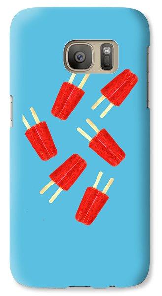 Desert Galaxy S7 Case - Popsicle T-shirt by Edward Fielding