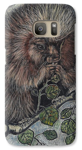 Galaxy Case featuring the drawing Porcupine In Aspen by Dawn Senior-Trask