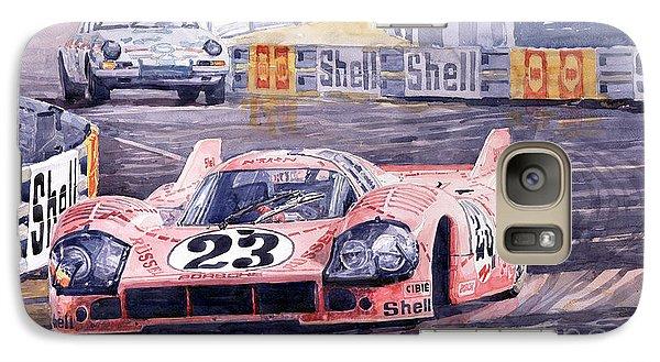 Pig Galaxy S7 Case - Porsche 917-20 Pink Pig Le Mans 1971 Joest Reinhold by Yuriy Shevchuk