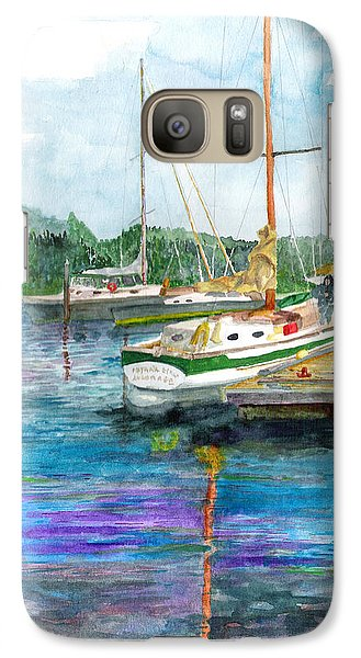 Galaxy Case featuring the painting Port Mcneil Bc by Eric Samuelson