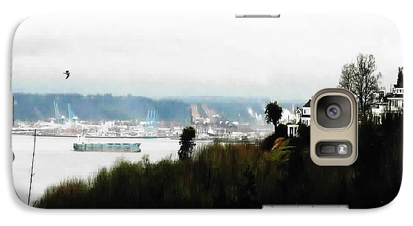 Galaxy Case featuring the photograph Port Of Tacoma At Ruston Wa by Sadie Reneau