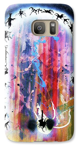 Galaxy Case featuring the painting Portal Of Beginning Again by Roberto Prusso