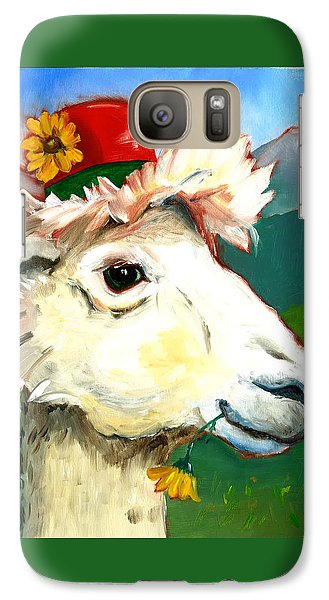 Galaxy Case featuring the painting Portland Alpaca by Susan Thomas