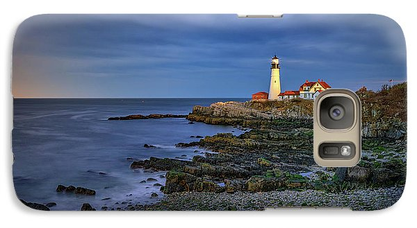 Galaxy Case featuring the photograph Portland Head Aglow by Rick Berk