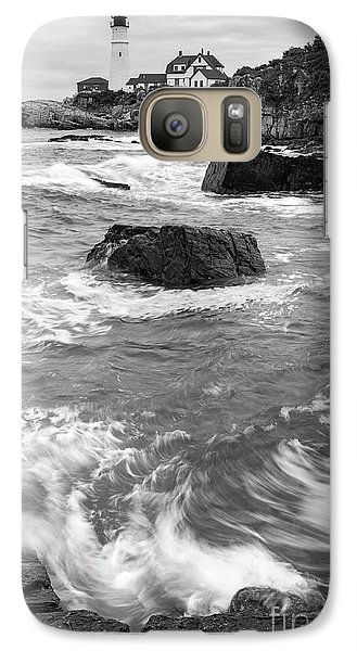 Galaxy Case featuring the photograph Portland Head Light Under Heavy Skies  -88356 by John Bald