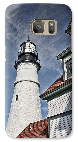 Galaxy Case featuring the photograph Portland Headlight Partial by Kim Wilson