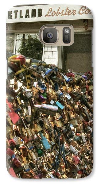 Galaxy Case featuring the photograph Portland Lobster Co - Locks Of Love by Joann Vitali