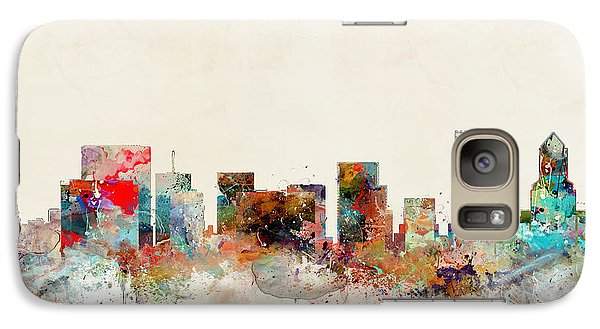 Galaxy Case featuring the painting Portland Oregon City Skyline by Bri B