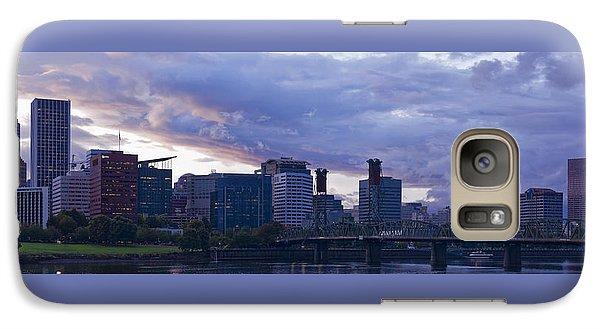 Galaxy Case featuring the photograph Portland Oregon Panorama by Jonathan Davison