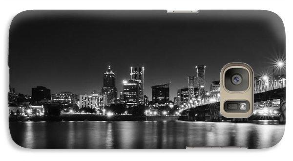 Galaxy Case featuring the photograph Portland Skyline by Don Schwartz