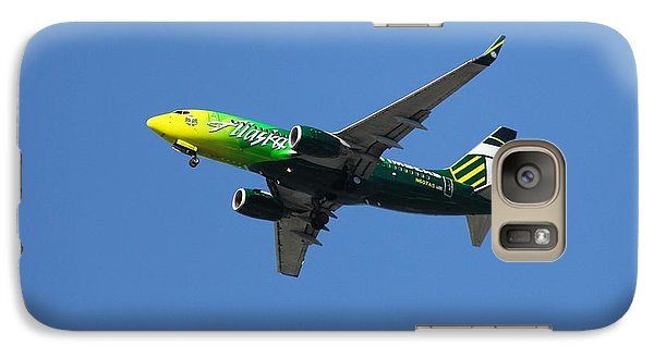 Galaxy Case featuring the photograph Portland Timbers - Alaska Airlines N607as by Aaron Berg