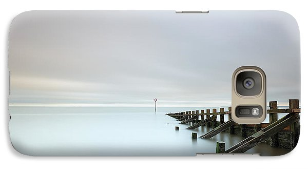 Galaxy Case featuring the photograph Portobello Sea Groynes by Grant Glendinning