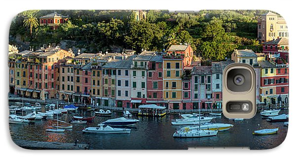 Galaxy Case featuring the photograph Portofino Morning Panoramic II by Brian Jannsen