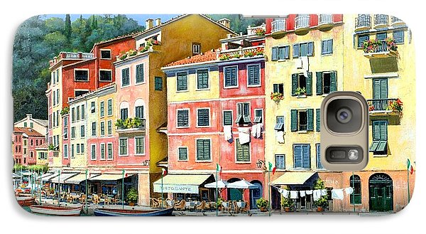 Galaxy Case featuring the painting Portofino Sunshine 30 X 40 by Michael Swanson