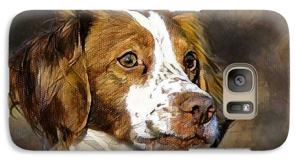 Galaxy Case featuring the photograph Portrait Of A Brittany - D009983-a by Daniel Dempster